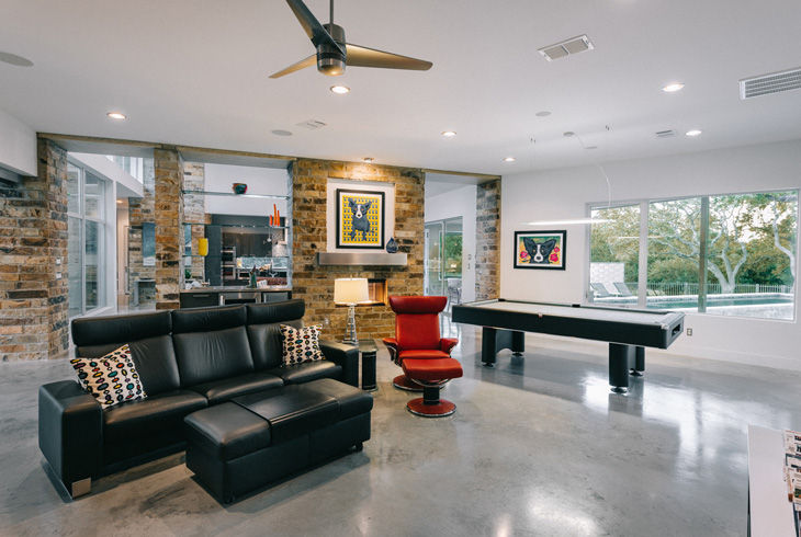 Design Mid Century European Cabinets Georgetown Texas Custom Home